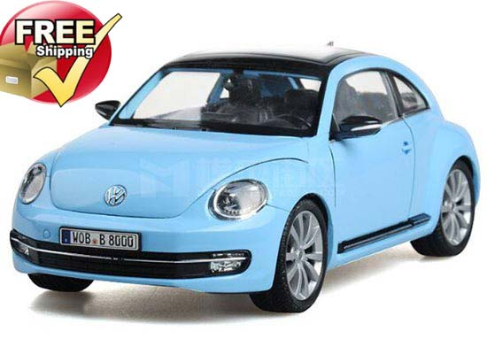 1:24 Scale White / Blue / Yellow / Red / Pink VW New Beetle