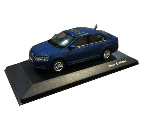1:43 Scale Blue / Golden Diecast VW New Santana Model